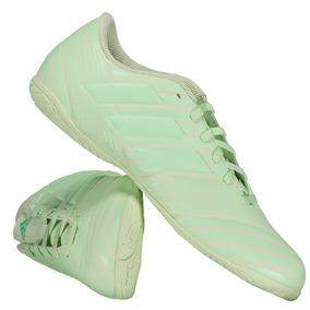 Chuteira Futsal - Chuteiras Adidas de Futsal Verde claro no Mercado ... 3b538e57e70ff