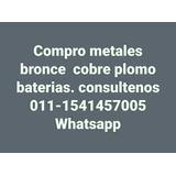 Compr Cobre Bronce Aluminio Plomo Cables Baterias