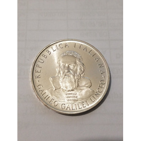 Republica Italiana 500 Lires 1982 Plata Galileo Galilei Linc