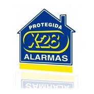 Cartel X28 Alarma Propiedad Protegida Pvc
