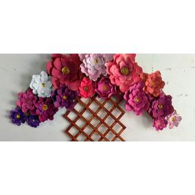 Flores Gigantes En Goma Eva (arreglo)