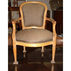 sillon de dormitorio estilo frances luis xvi antiguo nosilla