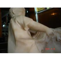 A Restaurar Soberbia Escultura Europea Alabastro