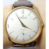 Impecable Reloj Breitling Cadette Hombre A Cuerda Oro 18k