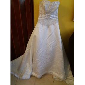Vestido De Novia Mari Lee Color Blanco Talla 8 S/m