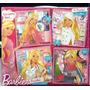 Barbie Puzzles X 4 Con Brillitos Quiero Ser Con Base De Goma