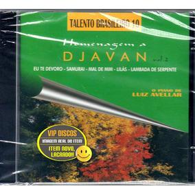 Cd O Piano De Luiz Avellar Homenagem A Djavan Vol 2 Lacrado