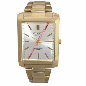 400edf22b40 Relogio Em Ouro Branco Quadrado - Joias e Relógios no Mercado Livre ...