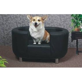Remate Mueble Sofa Cama Piel Negro Perro Med Gato Niños E4f