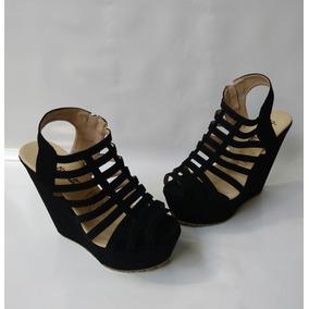 Zapatos Negros Mujer Tacon Corrido Plataforma Envio Gratis