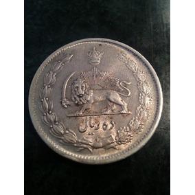 Moneda Persia Iran 10 Rials 1323 De Plata
