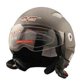 Casco Abierto Vcan V518 Gris Con Visor Urquiza Motos