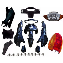 Kit Carenagem Honda Biz 100 +2005 Azul C/ Adesivada