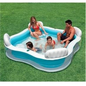 Piscina Inflável Intex 1000l Familiar C/ Assentos Porta Copo