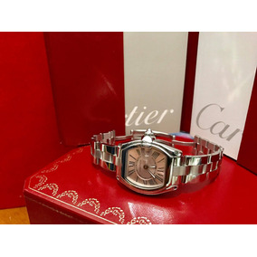 Precioso Cartier Roadster Pink Dial Limited Caja Papeles