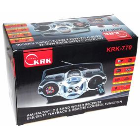 Radio Reproductor Mp3 Fm Usb Tf Sd Card Bateria Krk-770