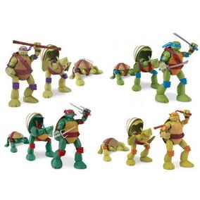 Coleção Tartarugas Ninja Pet To Turtle Kit 4 Bonecos - Br415