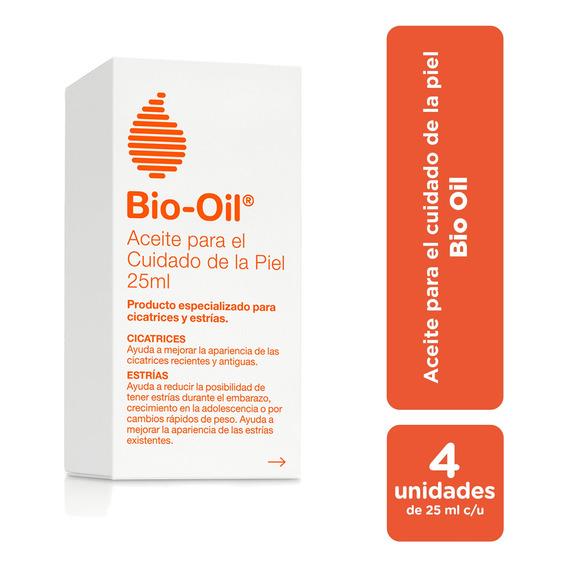 Bio Oil Para Cicatrices, Estrías Y Manchas 25 Ml - Pack X4