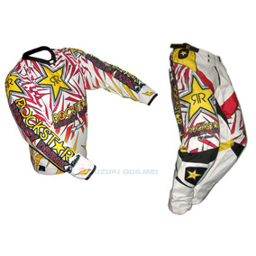 Conjunto Motocross Pantalon Y Buzo Rockstar Nacional S M L