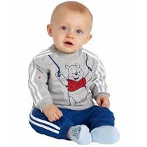 Conjunto De Moleton Infantil Bebês Menino Pooh Ursinho Poof