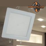 Plafon Led 18w Cuadrado Blanco Luz Exterior Embutir Techo