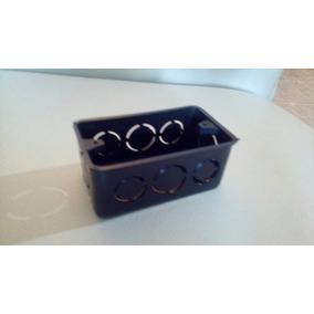 Cajetin Plastico 4x2 Combinado 1/2 Y 3/4 Negro