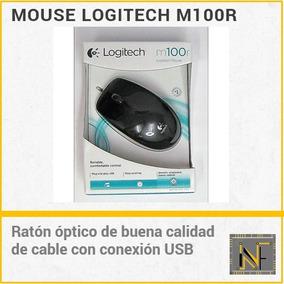 Mouse Raton Logitech M100r Original Usb Standard De Cable