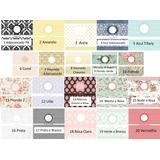 20 Opções Kit Toalete 35 Papel Fotográfico Adesivo