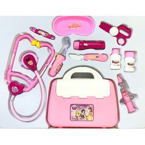 Maleta 11 Peças Princesas Kit Medico Doctor Toy