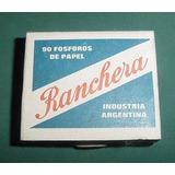 Vintage Antigua Caja Fosforos Ranchera Motivo 1 Publicidades