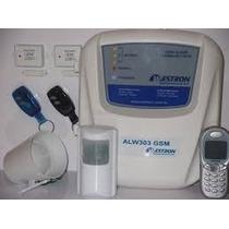 Kit Alarme Residencial 07 Sensores Discadora Gsm 2 Controles