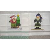 Panos De Prato Pintados A Mão - Papai Noel