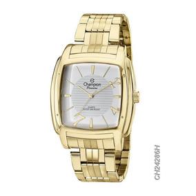 Relógio Champion Passion Quadrado Dourado Ch24286h Loja