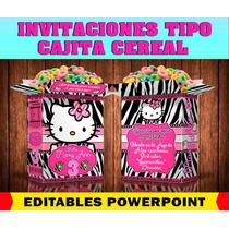 Invitacion Cajita De Cereal, Divertida Y Novedosa