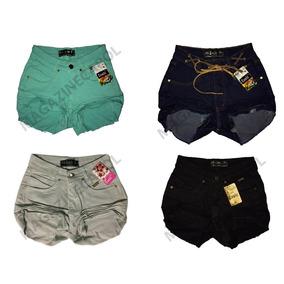 Short Jeans Hot Paints Kit C/ 5 Peças Atacado Frete Grátis