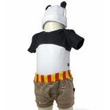 Body Kung Fu Panda Gorro Boné Orelhas Short Roupas Bebe Er