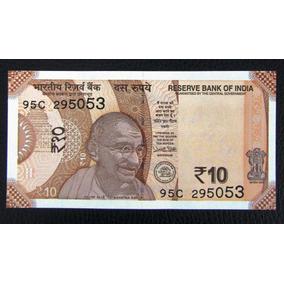 India Billete 10 Rupias Gandhi Unc 2017 Pick New