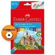 Lápis De Cor Faber Castell 36 Cores Para Livro De Colorir