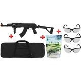 Rifle Airsoft Elétrico Ak47 Bivolt+ Capa+ Esferas+ 3 Óculos