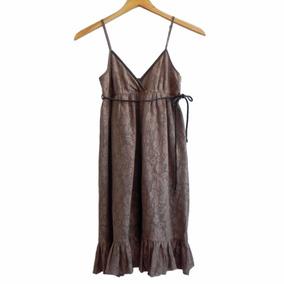 Vestido Solera Color Tostado Marca Bershka #roa