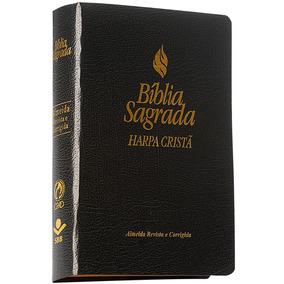 Bíblia Média Letra Maior C/ Harpa Cristã - Capa Preta