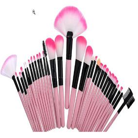 Kit 32 Pinceis Maquiagem Rosa - Maquiagem no Mercado Livre Brasil ba4884e56f