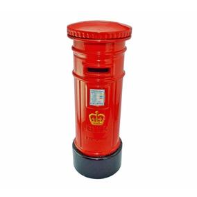 Cofre Londres Retro Vintage Correio Vermelho Dinheiro Moedas