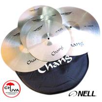Kit De Pratos Chang Cymbals Armor Silver - 13/14/16/18 + Bag