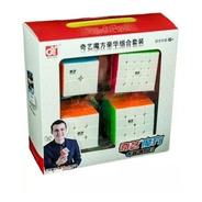 Pack 4 Cubos Rubik Qiyi 2x2, 3x3, 4x4, 5x5 Caja Regalo