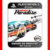 Burnout Paradise Ps3 Digital Nº1 En Ventas En Argentina
