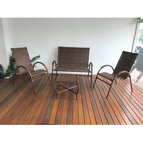 Jogo Cadeira Em Fibra,área, Jardim, Varanda E Churrasqueira