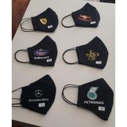 Kit De 4 Máscaras Com 3 Camada Personalizadas
