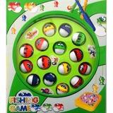 Jogo Infantil Brinquedo Pescaria Pega Peixe 18x18 Cm