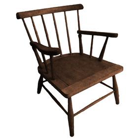 Cadeira Antiga De Varanda (madeira Maciça)